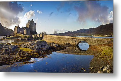 Bridge To Eilean Donan Metal Print by Gary Eason