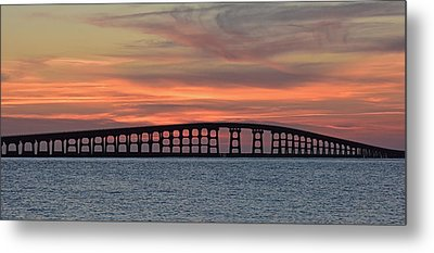 Bridge To Hatteras Metal Print