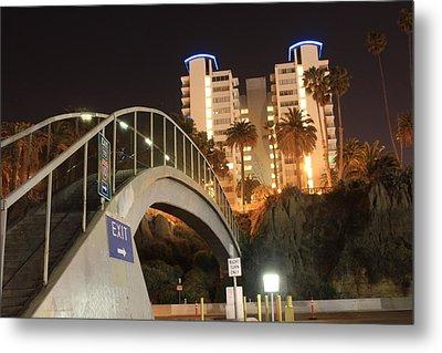 Bridge To Santa Monica Metal Print by Sheri  Neva