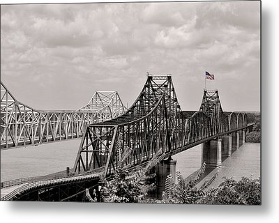 Bridges At Vicksburg Mississippi Metal Print