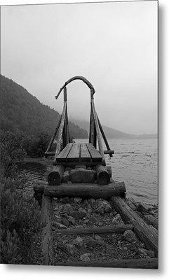 Bridges Crossed Metal Print by Becca Brann