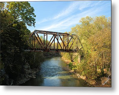 Bridging The Gap Metal Print