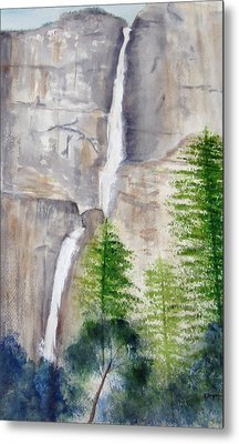 Bridal Veil Waterfall Metal Print