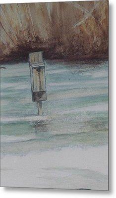 Brigham Pond Duck Box Metal Print by Debra Sandstrom
