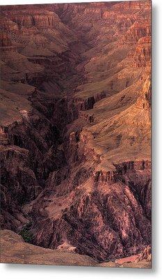 Bright Angel Canyon Grand Canyon National Park Metal Print by Steve Gadomski