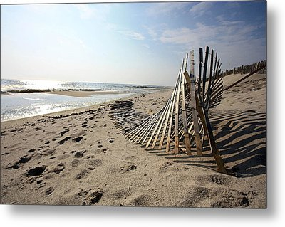 Bright Beach Morning Metal Print by Mary Haber