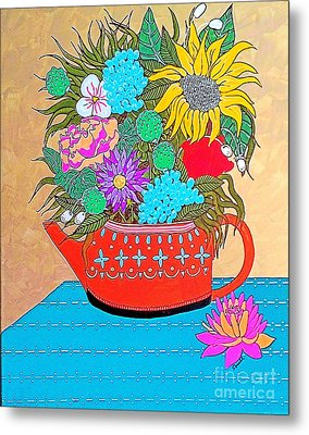 Bright Bouquet Metal Print