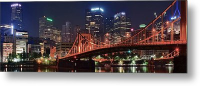 Bright City Night Metal Print by Frozen in Time Fine Art Photography
