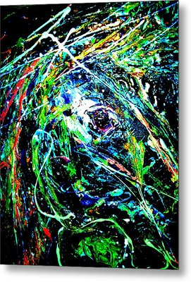 Metal Print featuring the painting Bright Eyed Night by Cody Williamson