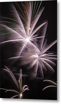 Bright Fireworks Metal Print by Garry Gay