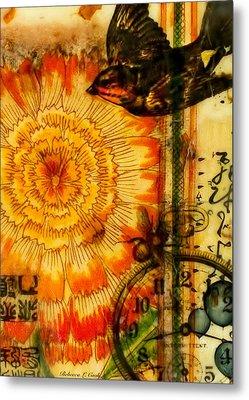 Bright Life Encaustic Metal Print by Bellesouth Studio
