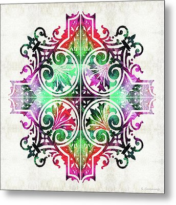 Bright Pattern Art - Color Fusion Design 9 By Sharon Cummings Metal Print by Sharon Cummings
