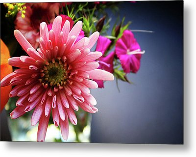 Bright Pink Floral 1- Art By Linda Woods Metal Print by Linda Woods