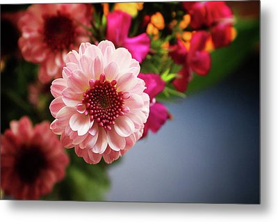 Bright Pink Floral 2- Art By Linda Woods Metal Print by Linda Woods