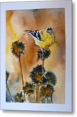 Metal Print featuring the painting Bright Spot In Winter by P Maure Bausch