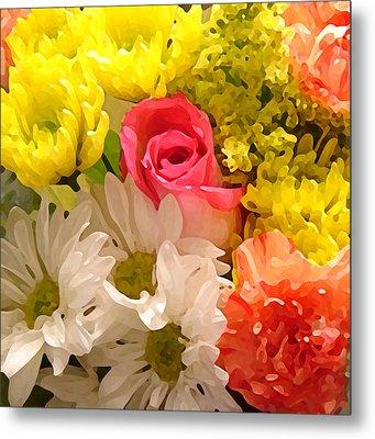 Bright Spring Flowers Metal Print by Amy Vangsgard