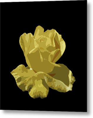 Metal Print featuring the photograph Bright Yellow Beauty by Laurel Powell