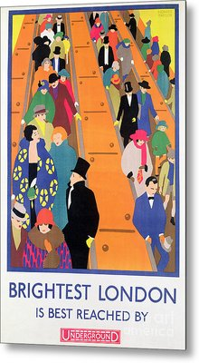 Brightest London Is Best Reached By Underground Metal Print by Horace Taylor