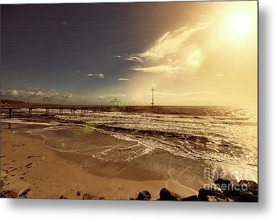 Metal Print featuring the photograph Brighton Beach Pier by Douglas Barnard