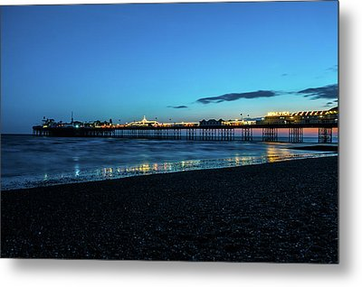 Brighton Pier At Sunset Ix Metal Print