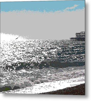 Brighton West Peer Metal Print