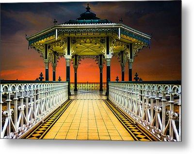 Brighton's Promenade Bandstand Metal Print