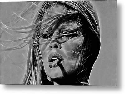 Brigitte Bardot Collection Metal Print by Marvin Blaine