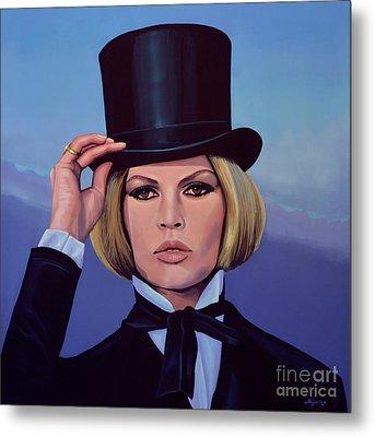 Brigitte Bardot Painting 2 Metal Print