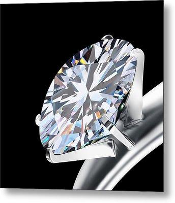 Brilliant Cut Diamond Metal Print