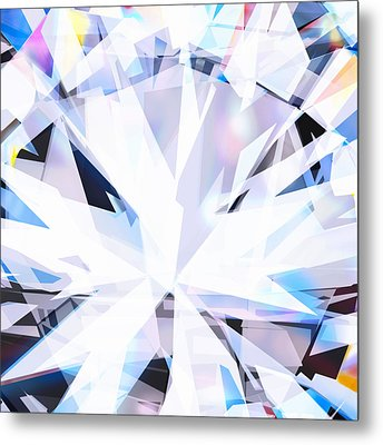 Brilliant Diamond  Metal Print by Setsiri Silapasuwanchai