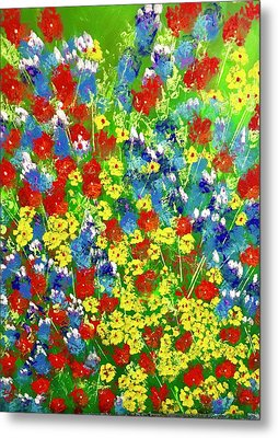 Brilliant Florals Metal Print
