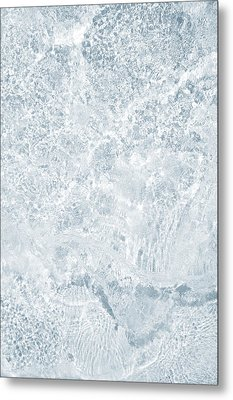 Metal Print featuring the photograph Brilliant Shine. Series Ethereal Blue by Jenny Rainbow