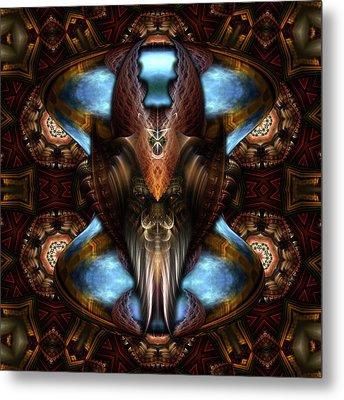 Brimitin Warrior Blue Destiny Metal Print