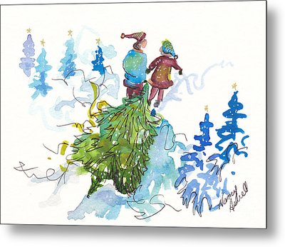 Bringing Christmas Home Again Metal Print by Michele Hollister - for Nancy Asbell