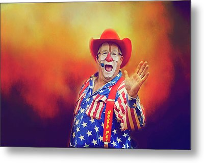 Metal Print featuring the photograph Bringing Fun To The Rodeo Greek Ellick Jr.  by Toni Hopper