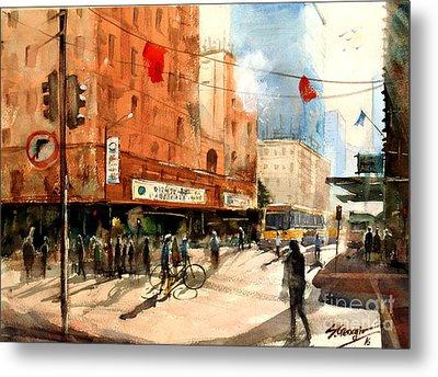 Brisbane City Early Morning Metal Print by Sof Georgiou