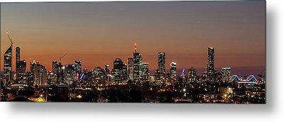 Brisbane City Skyline Metal Print by Az Jackson