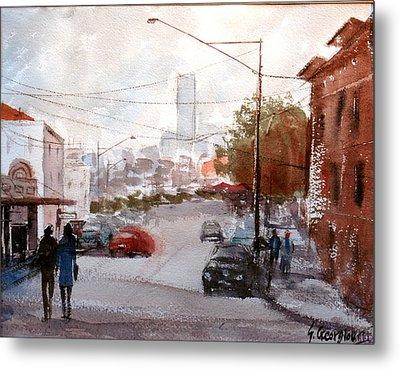 Brisbane Paddington Street Scene Metal Print by Sof Georgiou