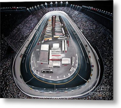 Bristol Motor Speedway Racing The Way It Ought To Be Metal Print by Patricia L Davidson