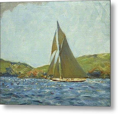 Metal Print featuring the painting Britannia by Henry Scott Tuke