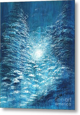 Metal Print featuring the painting Brite Nite by Holly Carmichael