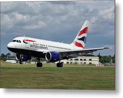 British Airways A318-112 G-eunb Metal Print