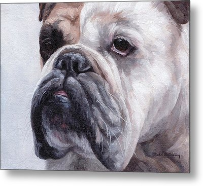 British Bulldog Painting Metal Print