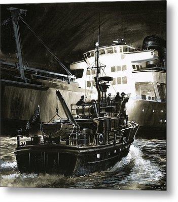 British Coastguard Patrol  Metal Print by Wilf Hardy