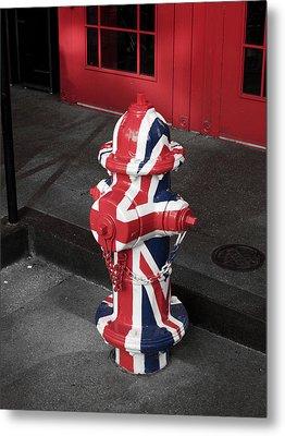 British Fire Hydrant Metal Print by Rae Tucker