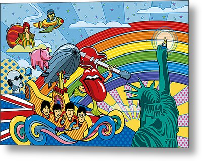 British Invasion Encore Metal Print by Ron Magnes