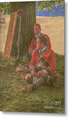 British Soldiers In Camp Metal Print by Randy Steele