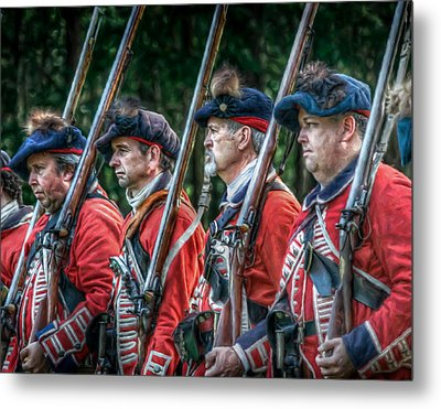 British Soldiers March To Fort Pitt Metal Print by Randy Steele