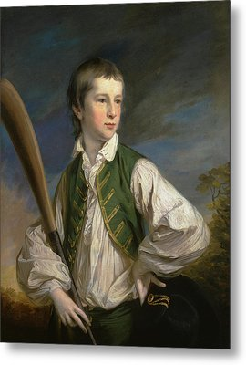 British Title Charles Collyer As A Boy  With A Cricket Bat Metal Print