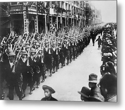British Troops In Hong Kong Metal Print